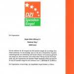 DZI Spendensiegel 2016