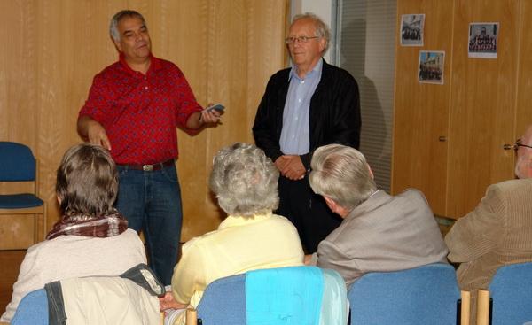 Dr. Christian Aponte und Klaus Schubert