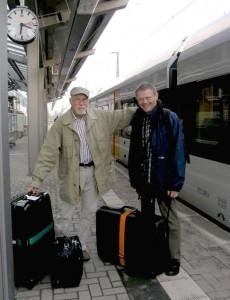 K. Dehnert und H.-W. Gierhake bei der Abreise 2010